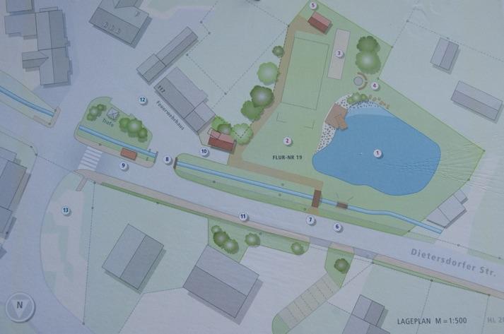Plan zur Neugestaltung des Dorfweihers