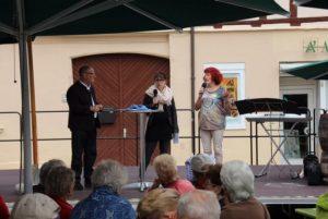 02.09.2017 - Das Fest der Stadtteile zum Jubiläumsjahr der Stadt Schwabach - 900 Jahre. Podium