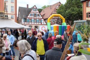 02.09.2017 - Das Fest der Stadtteile zum Jubiläumsjahr der Stadt Schwabach - 900 Jahre. Hüpfburg.