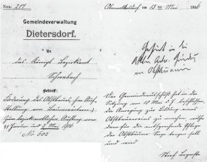 Gründung OGV Dietersdorf - 15. Mai 1906