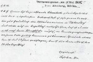 Gründung OGV Dietersdorf - 19. Mai 1906