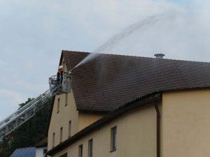 24.09.2017 - Feuerwehrübung in Dietersdorf. Über den Dächern von Dietersdorf