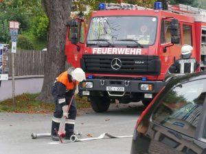 24.09.2017 - Feuerwehrübung in Dietersdorf. Anschluss