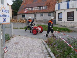 24.09.2017 - Feuerwehrübung in Dietersdorf. Schlauch