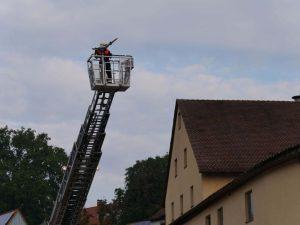 24.09.2017 - Feuerwehrübung in Dietersdorf. Hoch oben.