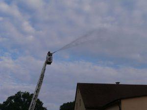 24.09.2017 - Feuerwehrübung in Dietersdorf. Löschen von Oben