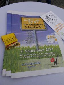 02.09.2017 Fest der Stadtteile (RPS) - Beilage Schwabacher Tagblatt