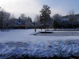 18.02.2018 Winter Impressionen Dietersdorf (RPS) - Festplatz - Blick auf Schimmelgarten