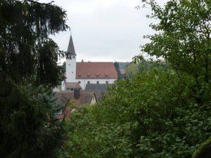 06.10.2013 Kulturwanderung Dietersdorf (RPS) - Blick von Kirche St. Hedwig auf Georgskirche