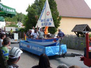 2014 - Kärwa Dietersdorf (RPS) -Festumzug Gewerbe Dietersdorf Boot