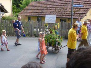 2014 - Kärwa Dietersdorf (RPS) -Festumzug - Obst- und Gartenbauverein Hängender Garten