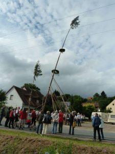 2016 - Kärwa Dietersdorf (RPS) - Kärwa-Baum und Kinder-Baum