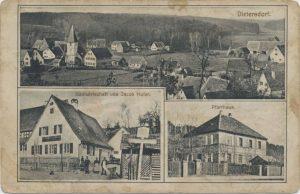 Postkarte aus Dietersdorf (vor 1914) - Privatbesitz (RPS)