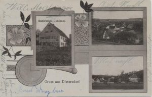 Postkarte aus Dietersdorf (vor 1910) - Privatbesitz (RPS)