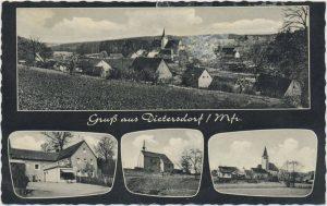 Postkarte aus Dietersdorf (vor 1964) - Privatbesitz (RPS)