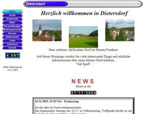 2003 - Homepage dietersdorf.de