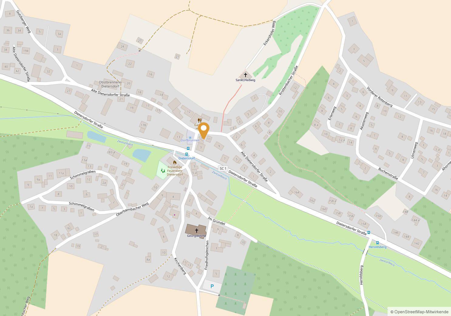 Mosthaus; Rosa-Mihalka-Platz, 91126 Schwabach-Dietersdorf