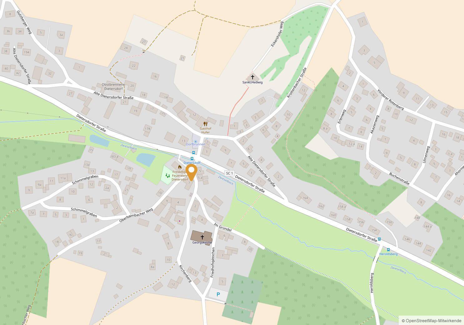 Gemeindehaus Dietersdorf; Oberbaimbacher Weg 7, 91126 Schwabach-Dietersdorf