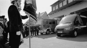 Festakt mit Fahrzeugübergabe LF 8/6 und MZF 2003 - Foto: K. Waldmüller