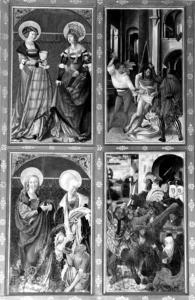 Detailansicht des linken Altarflügels - Fotos: Klaus Waldmüller