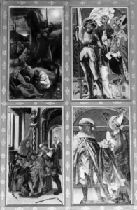 Detailansicht des rechten Altarflügels - Fotos: Klaus Waldmüller