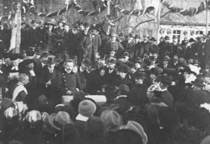 Grundsteinlegung der Georgskirche 1914 - Foto: Pfarrarchiv