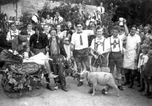 Kärwaboum 1947 - Foto: Privatbesitz Burk
