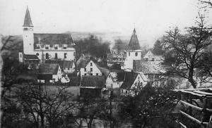 St. Michaelskirche, Blickrichtung von Nord-Ost um 1900 - Foto: Pfarrarchiv