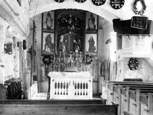 St. Michaelskirche Innenansicht um 1900 - Foto: Pfarrarchiv
