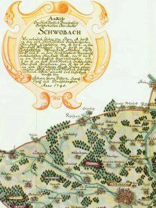 Landkarte von 1740, Pfarrarchiv