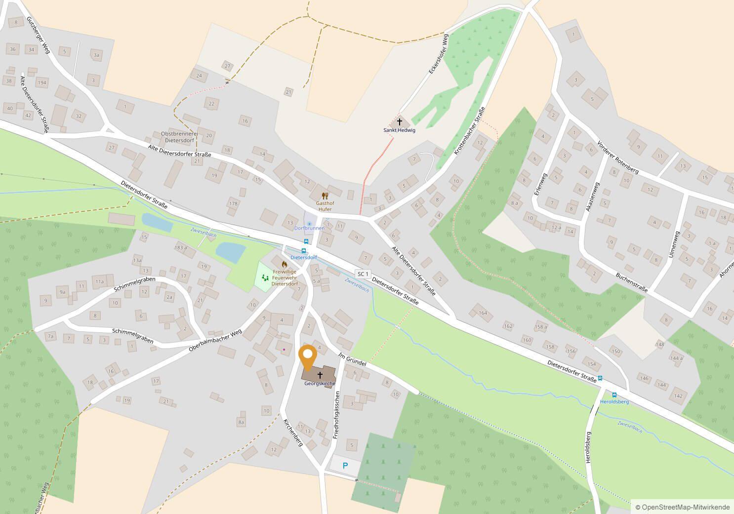 Georgskirche; Kirchenberg 5, 91126 Schwabach-Dietersdorf