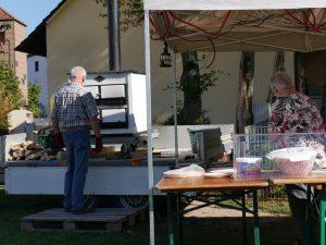 Weinfest Dietersdorf 2018 - Zubereitung frischer Flammkuchen 6