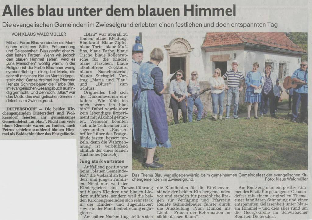 10.10.2018 Gemeinde Fest Dietersdorf 2018 - Schwabacher Tagblatt