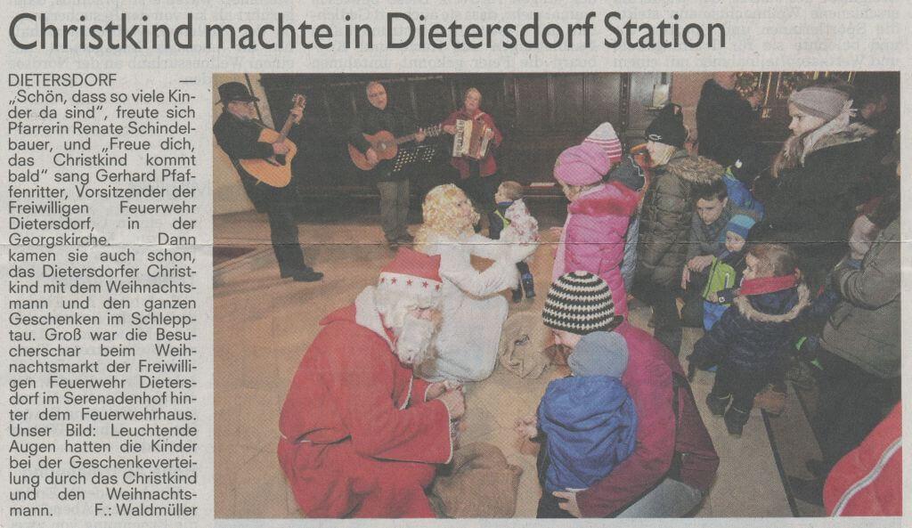 27.12.2018 - Weihnachtsmarkt Dietersdorf 2018 - Schwabacher Tagblatt