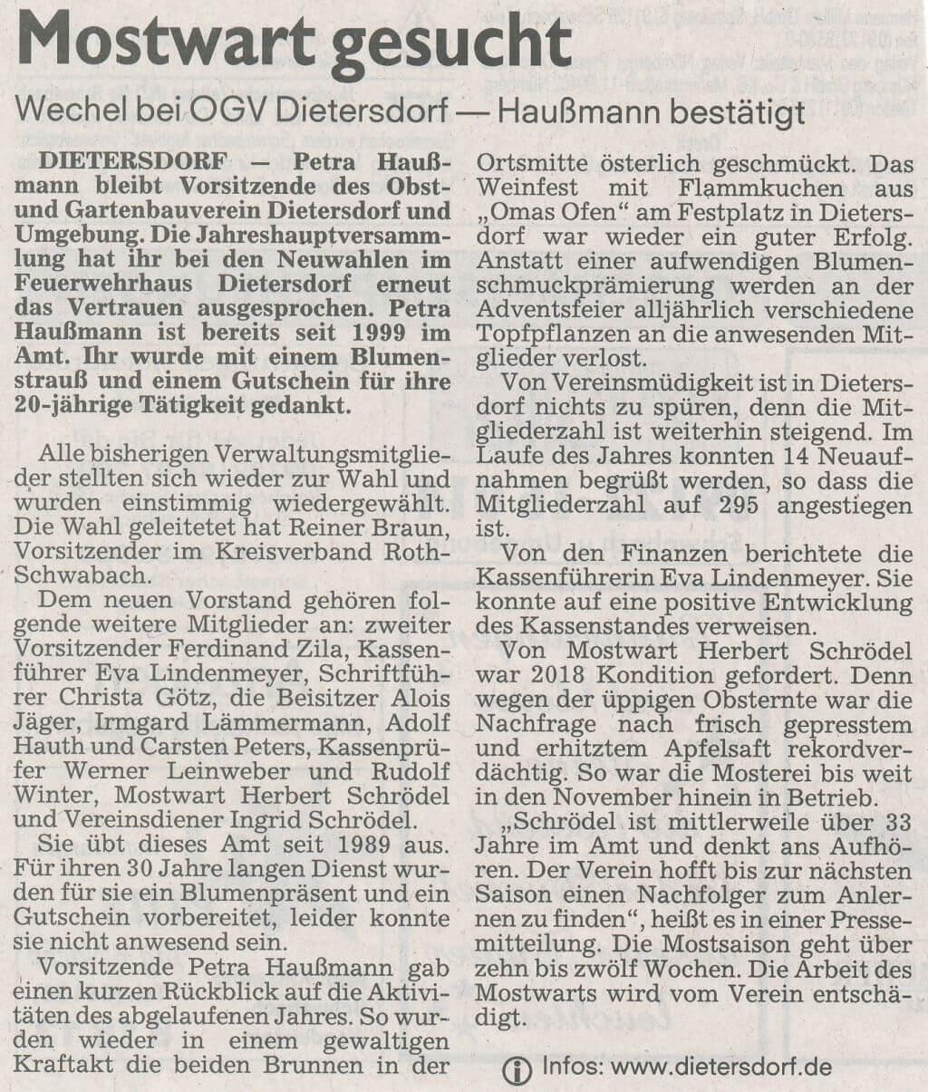 15.03.2019 Mostwart gesucht - Schwabacher Tagblatt