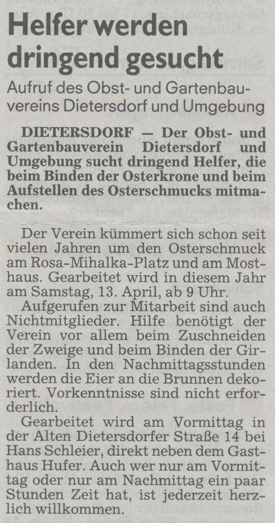 05.04.2019 Helfer werden dringend gesucht - Schwabacher Tagblatt