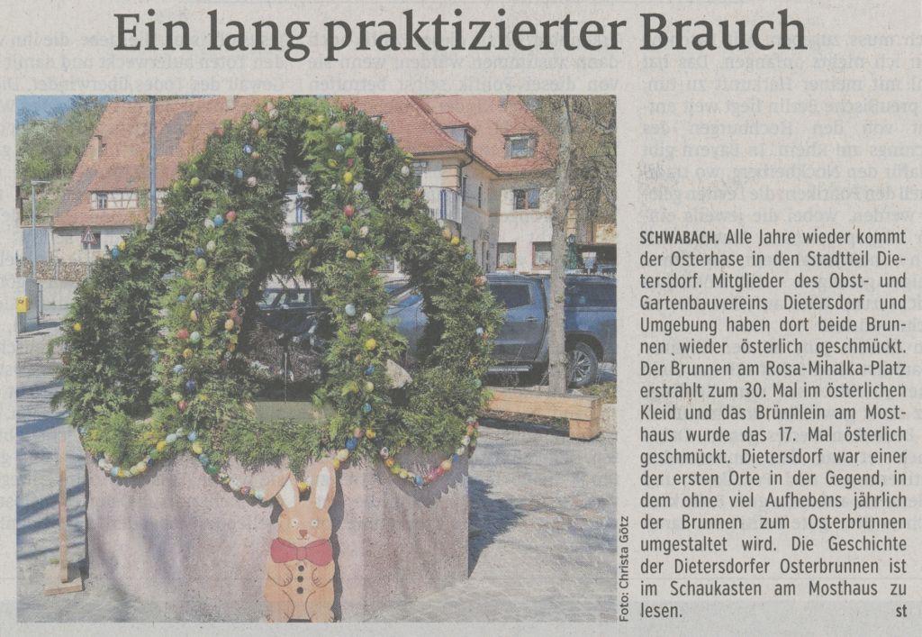 20.04.2019 Ein lang praktizierter Brauch - Schwabacher Tagblatt