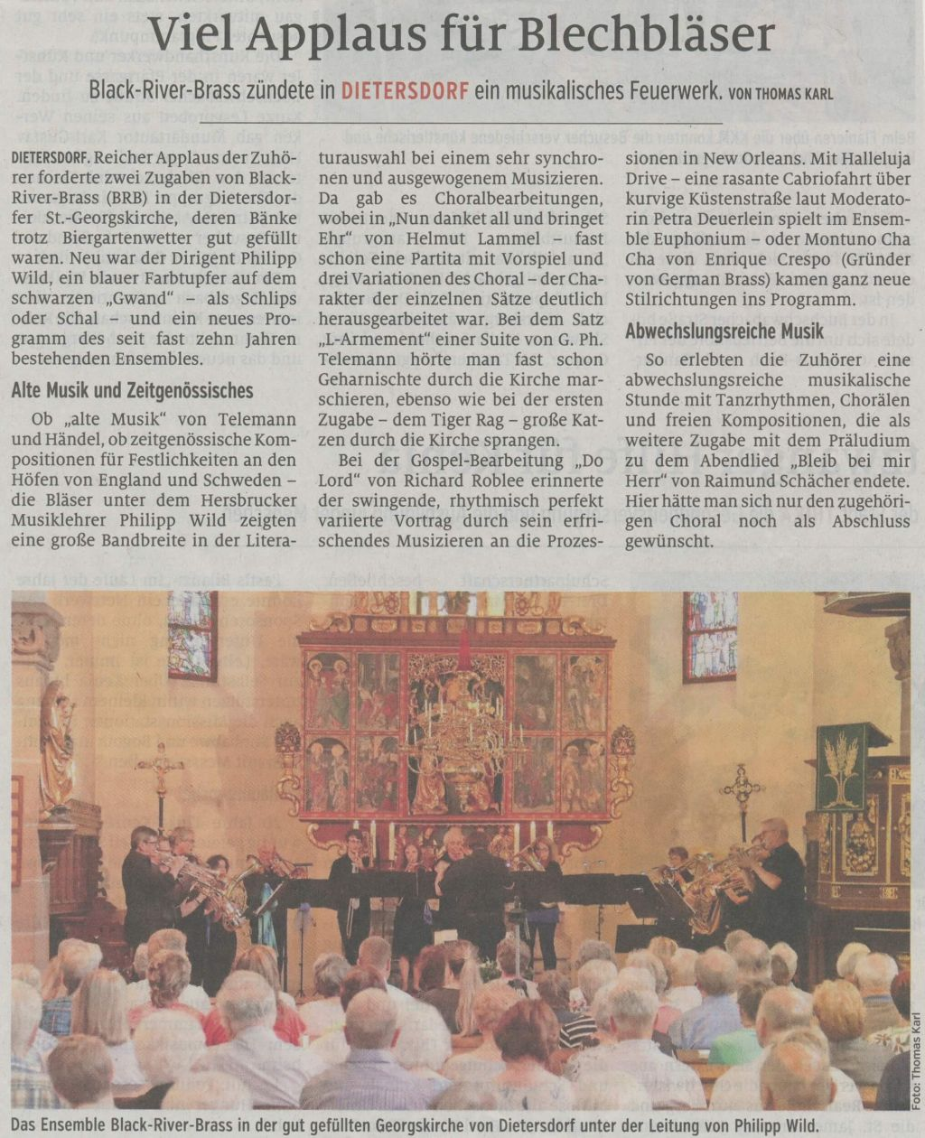 26.06.2019 Viel Applaus für Blechbläser - Schwabacher Tagblatt