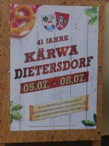 06.07.2019 - Kärwa Dietersdorf (RPS) - Plakat