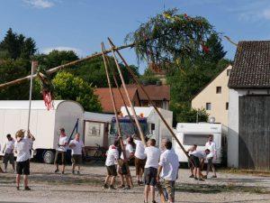 06.07.2019 - Kärwa Dietersdorf (RPS) - Baum aufrichten