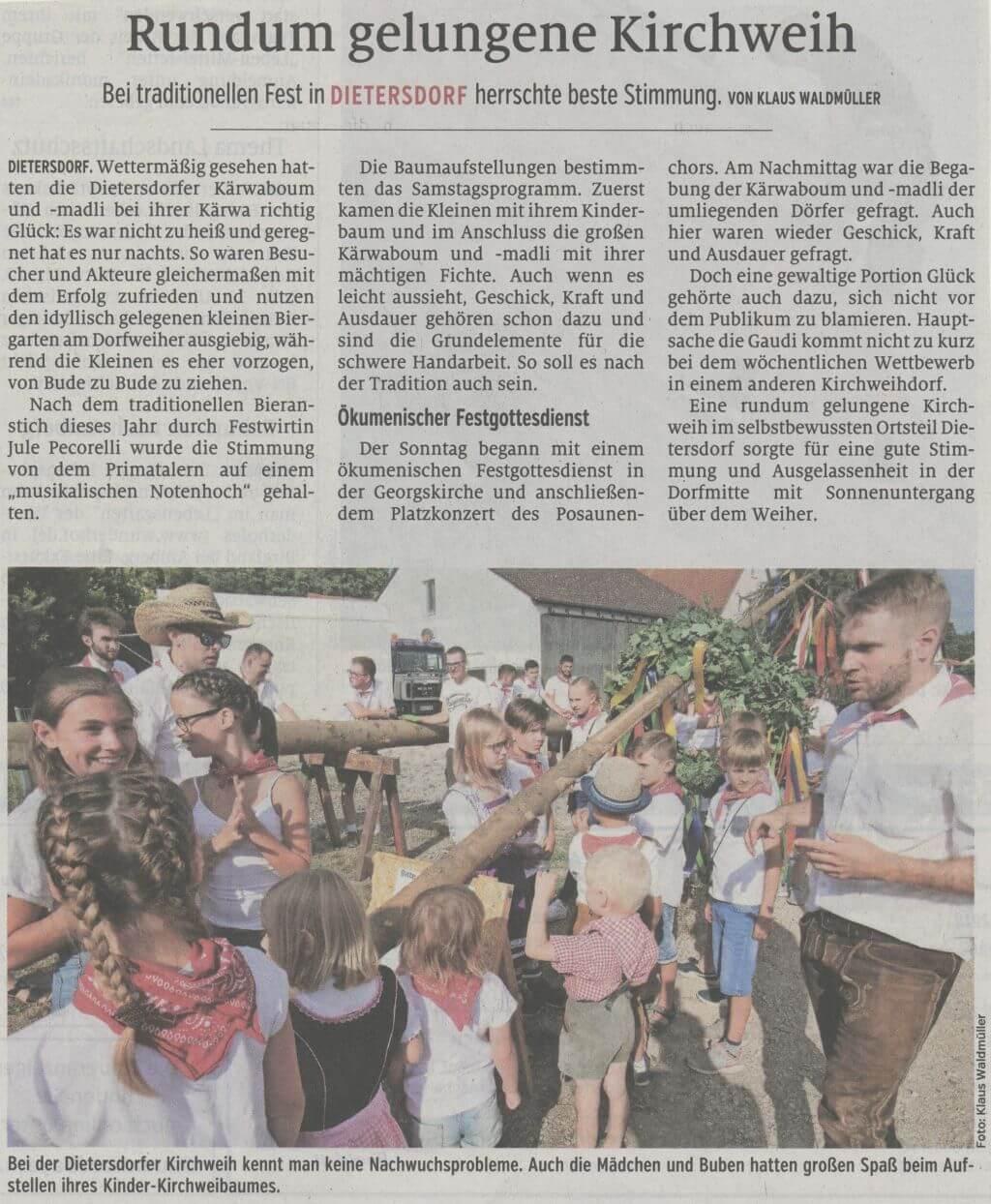 08.07.2019 - Rundum gelungene Kirchweih - Schwabacher Tagblatt
