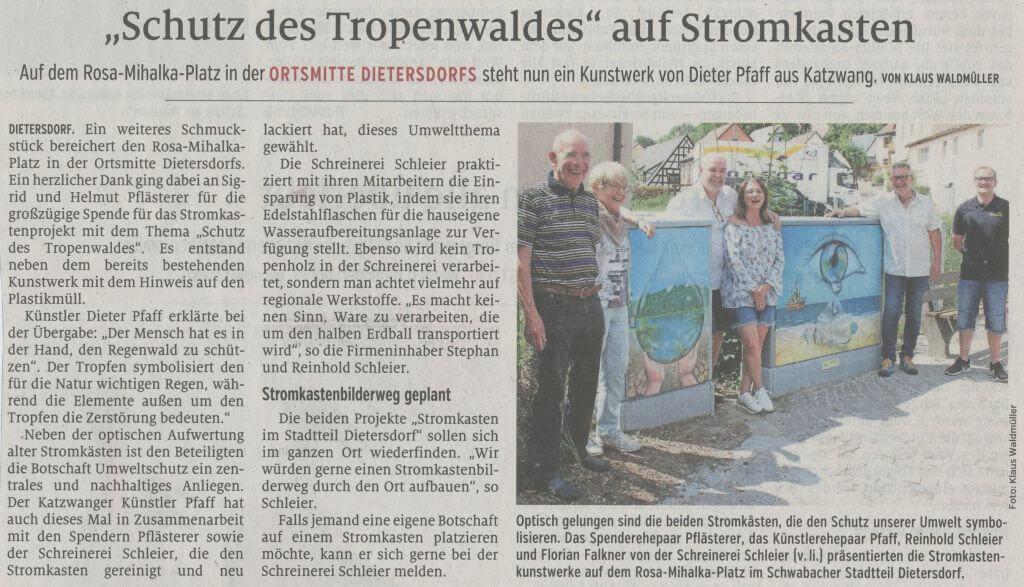 """13.07.2019 - """"Schutz des Tropenwaldes"""" auf Stromkasten - Schwabacher Tagblatt"""