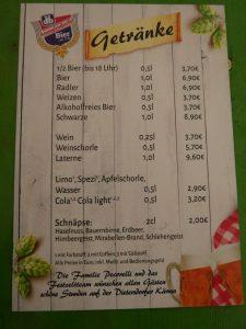 07.07.2019 - Kärwa Dietersdorf (RPS) - Getränkekarte