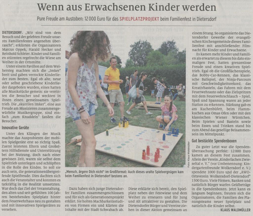 01.08.2019 - Wenn aus Erwachsenen Kinder werden - Schwabacher Tagblatt