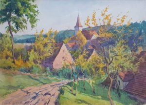14.10.1930 - Herbst in Franken - Maler Müller Nürnberg - Privatbesitz (RPS)