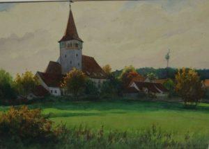 1930 - Kirche von Dietersdorf - Maler Müller Nürnberg