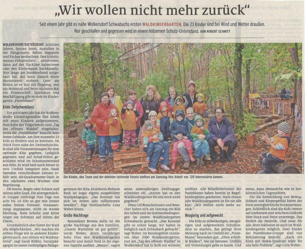 22.10.2019 - Wir wollen nicht mehr zurück - Schwabacher Tagblatt