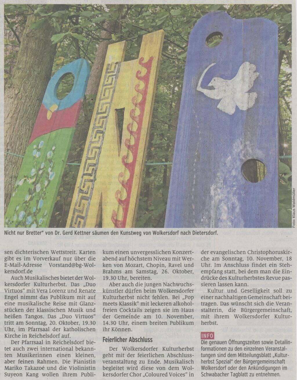 01.10.2019 - Kunst in allen Facetten - Schwabacher Tagblatt